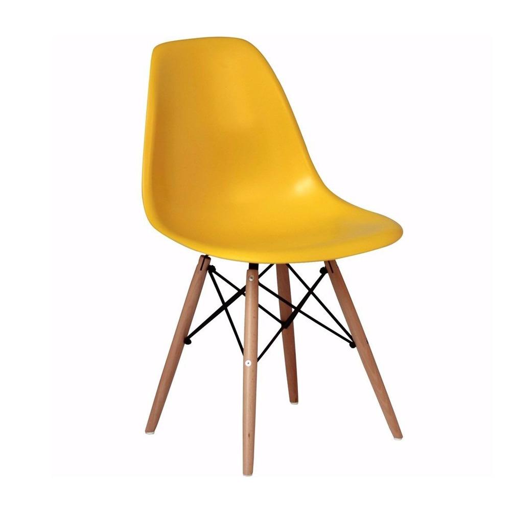 cadeira design charles eames eiffel amarela m bile importadora. Black Bedroom Furniture Sets. Home Design Ideas